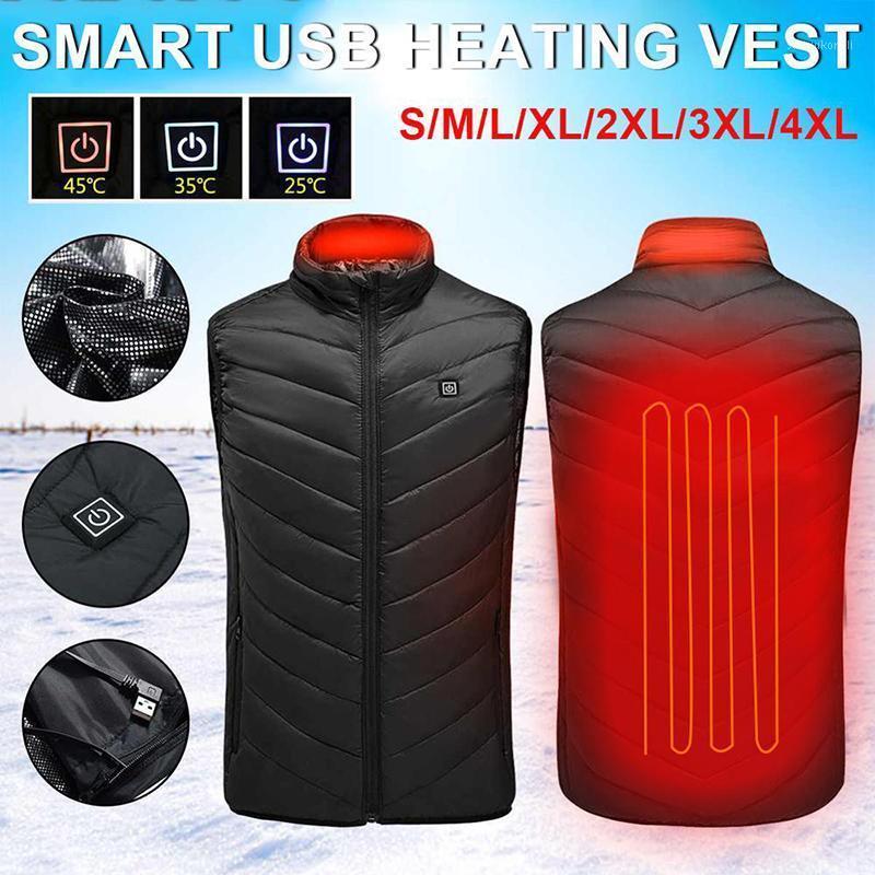 Outdoor USB Recarregável Infravermelho Aquecimento de Aquecimento Colete Men's Inverno Full Body Aquecimento Roupas Flexível Térmica Inverno Quente Vest1