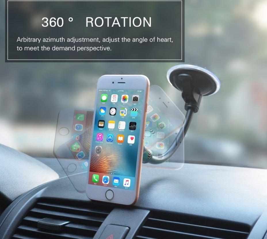 Newly Universal Mobile Phone Dashboard /Windshield Car Long Gooseneck Magnetic Holder Stand Mount For Gps Smartphone Cellphone (Retail )