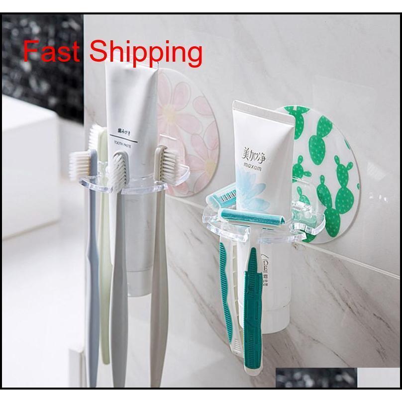 Держатель для ванной комнаты Зубная щетка держатель настенные монтажные лосьон для лица очищают стойку Ванная комната хранения тусовки тушь инструменты QYLUUH BDE_LUCK