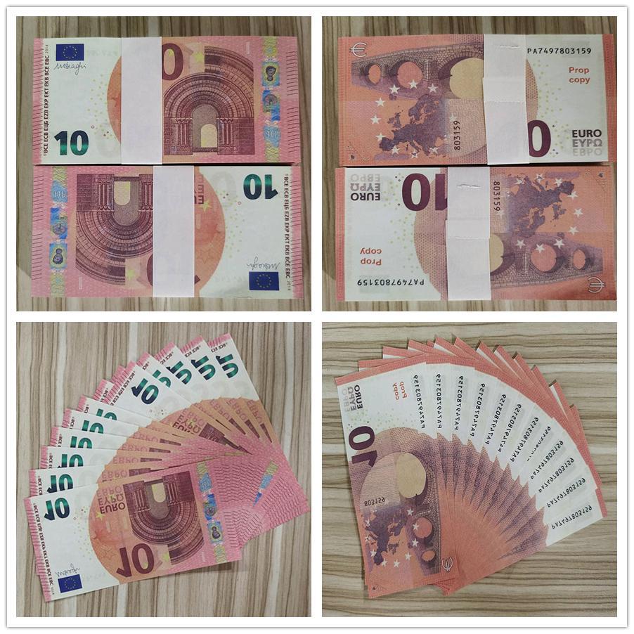 Горячей продажа SIMULATE Европы 10 евро поддельной банкноты игрушка кино и телевидение съемки реквизит реквизит практикующего банкноты игру маркер 03