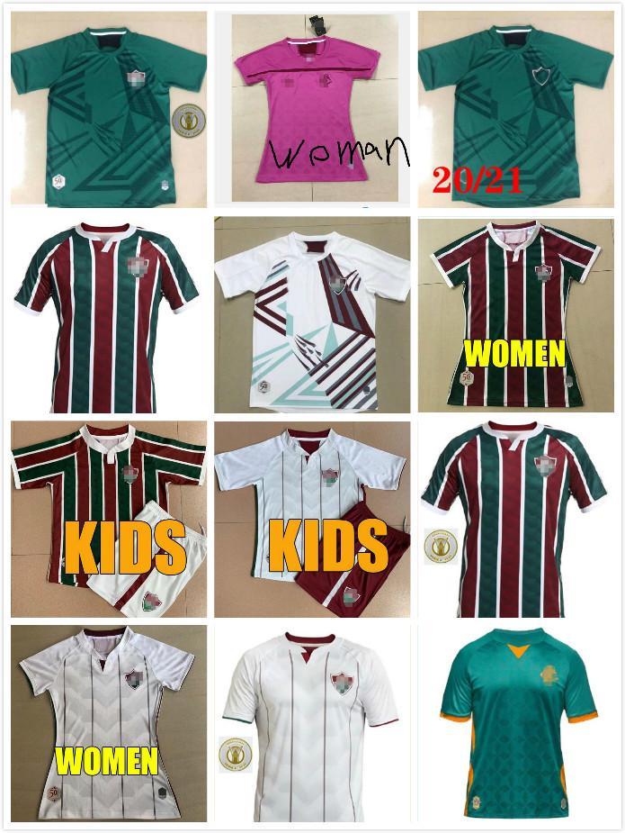2020 2021 Fluminense brasileño adultos jersey de hombres mujeres niños kit M.PAULO PH GANSO camiseta de fútbol NENE Niño Miguel camisa Fluminense 20 21
