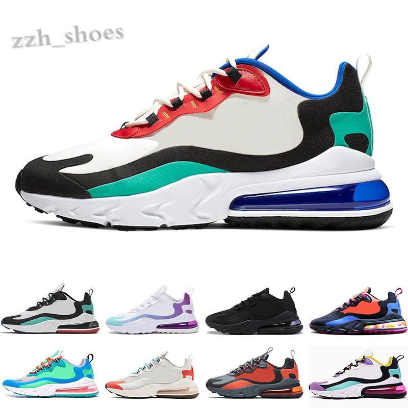 nike air max 270 react Sıcak Satış 27c Reaksiyon Kadın Erkek Ayakkabı Ağartılmış Mercan Pembe erkek Parlak Eğitmenler Spor Sneakers 36-45 PR07
