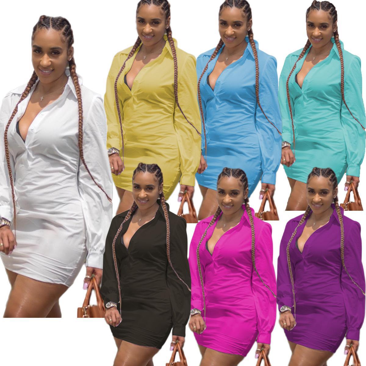 Мода Повседневная Женщины Платья Sexy V шеи Короткие платья пляжа шифоновое белый мини Сыпучие вскользь тенниска платье плюс размер 8805