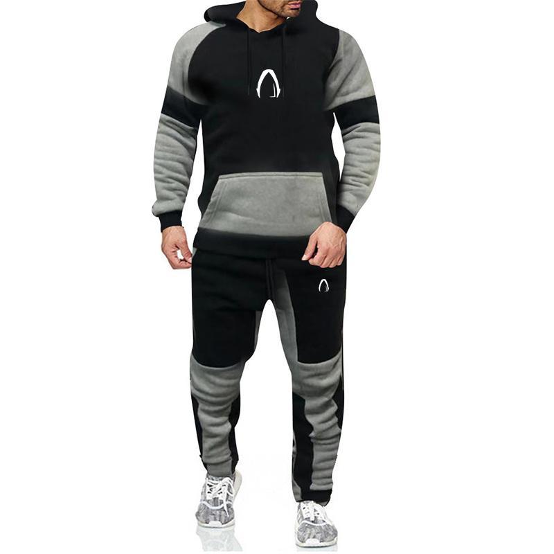 2020 Tasarımcı Sonbahar Kış Erkek Setleri Hoodies Pantolon Parçaları Eşofman Marka Erkekler Hoodie Sweatpants Rahat Pantolon Spor Giysiler