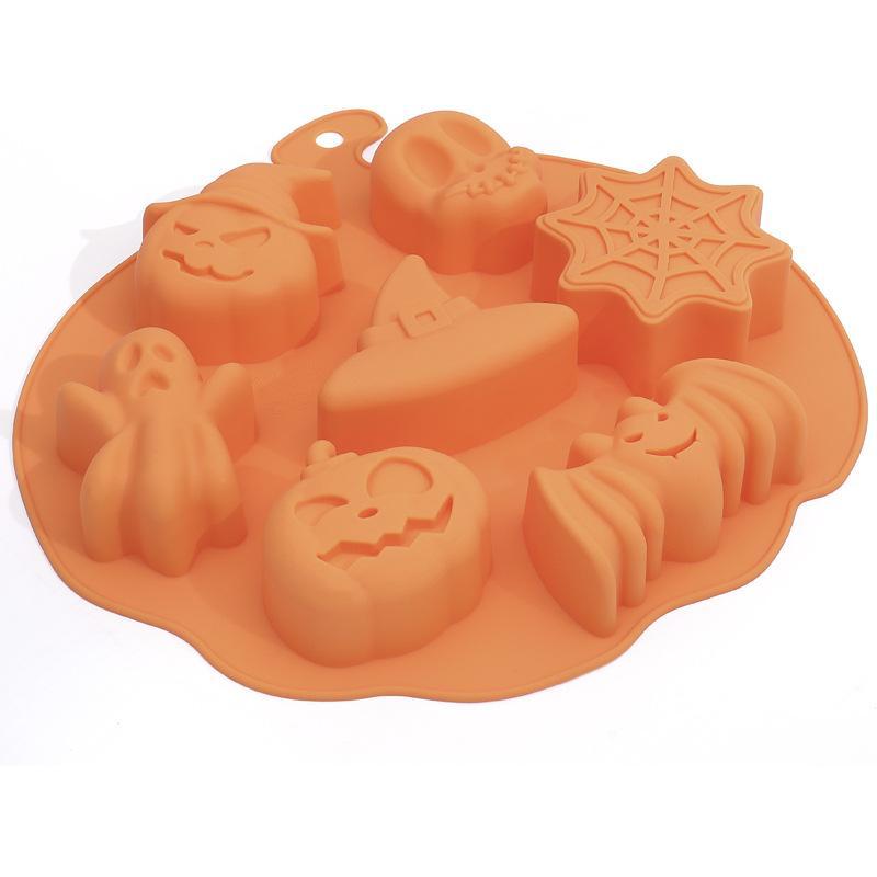 ديي سيليكون كعكة قوالب هالوين شبح مهرجان قوالب دمية اليقطين الجمجمة جولة مستطيل العفن بيع جيدا 4 3BH J1