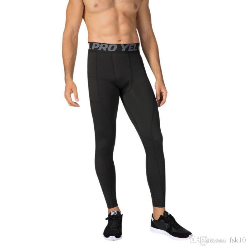 Eğitim Spor Pantolon Hızlı Kurutma dibe Dikiş çalışan Pantolon Koşu Yüksek Elastik Erkekler Spor Tayt