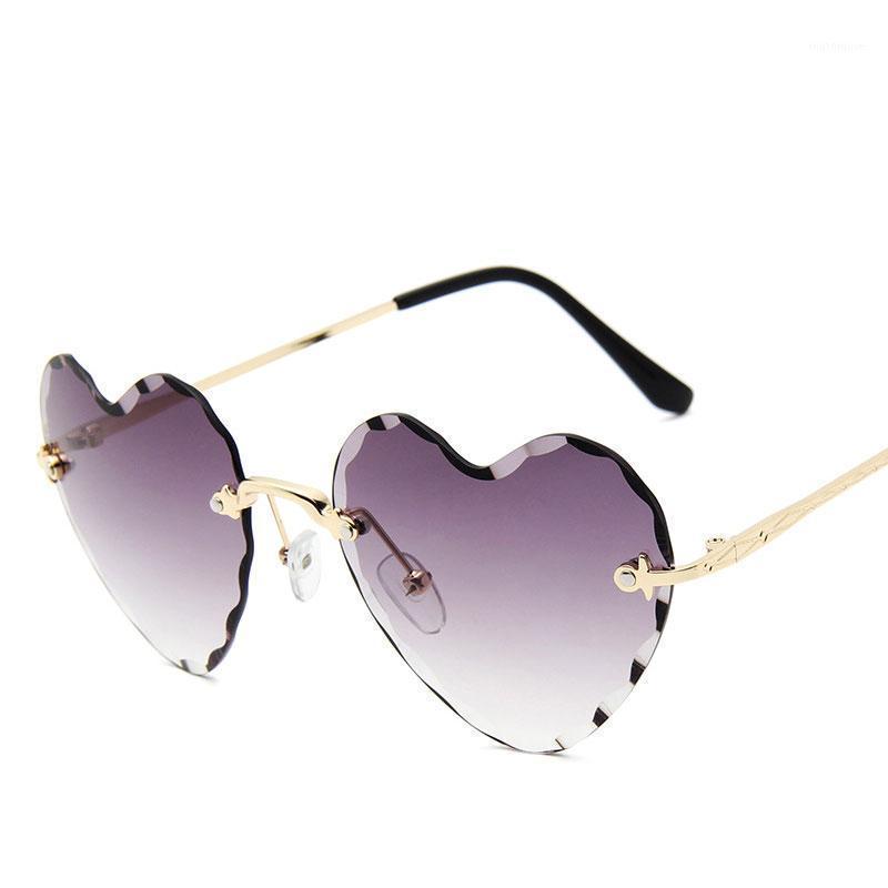 Moda coração em forma de óculos de sol mulheres designer de marca óculos de sol homens uv400 luxo adulto 20201