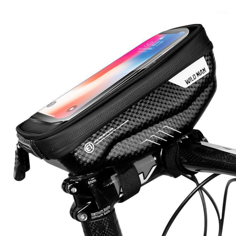 Universal Waterproof Bike Phone Pouch Bag Front Tube Handlebar Phone Holder Touch Screen Bycicle Accessories1