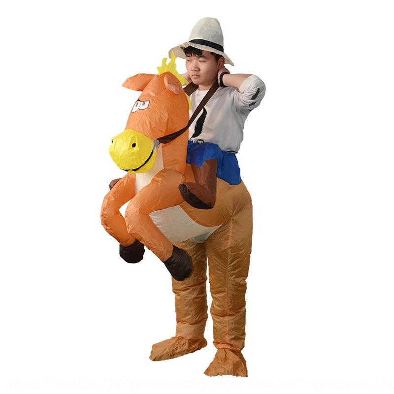 BbFNa party selling parent-child Hot puppet Toy Costume amusement park inflatable horse inflatable puppet show Costume toy Halloween 6pUxY