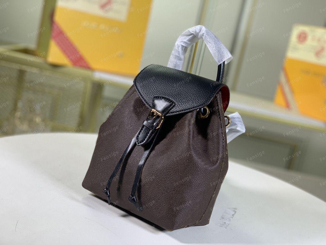 Frauen BB-Taschen Leder Geldbörse Montsouris M45205 Rucksäcke Buchstaben Leder Herren Geprägte Montsouris Muster Rucksack M45502 M45410 M45397 F MJTF