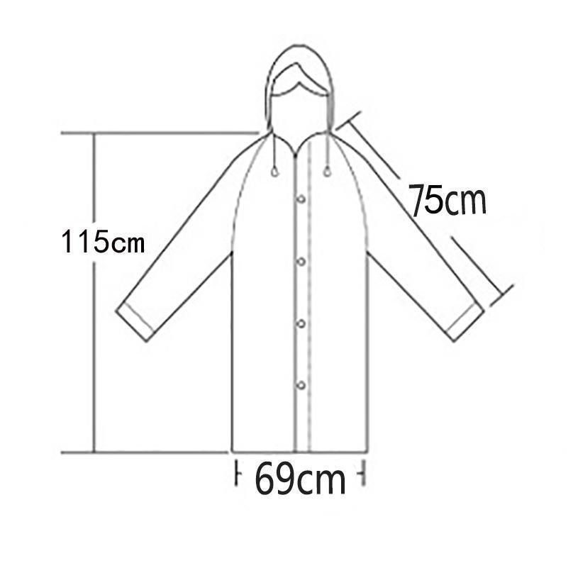 Прозрачная дождевая одежда PCS 3 Jllxuo плащ мужчин женщин водонепроницаемый универсальный чехол пончо непроницаемый дождь белый и Batqx