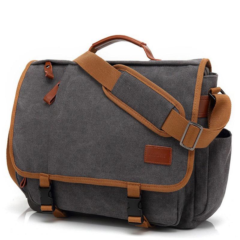 Vintage Canvas Briefcase Laptop Suitcase Travel Handbag Men Business Tote Male Messenger Bags Shoulder Bag 2020 XA200ZC Q0112