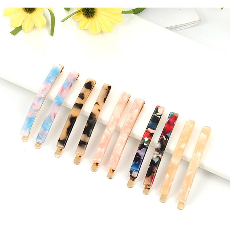 Marble 2pcs / Set Mulheres Leopard Vintage textura do cabelo ar Pin Clipe Comb cabelo Barrette Hairpin Hairband Hair Styling Acessórios