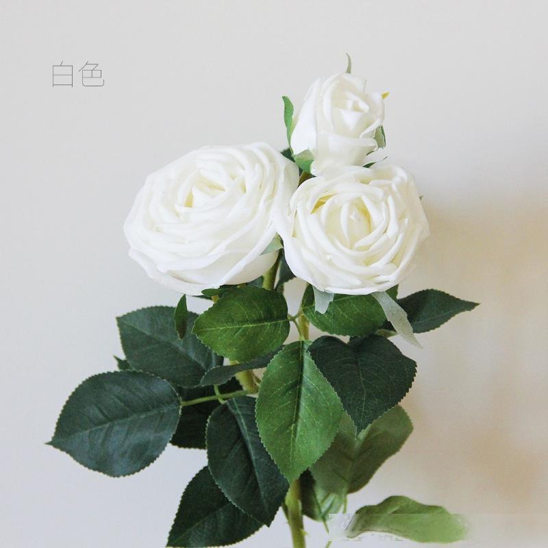 71cm boda decoraciones de flores 8 colores falso artificial de cabeza de Rose del partido del hogar de la flor de trabajo hecho a mano DIY flor decoración flores de la simulación