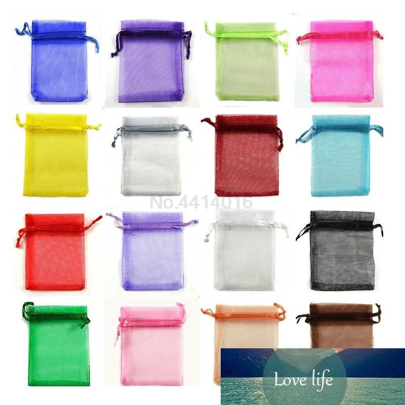 24 couleurs 50 pièces 7x9 9x12 10x15 13x18cm sac dur transparent cadeau décoration fête de mariage sac d'emballage de bijoux de sacs de sable 66