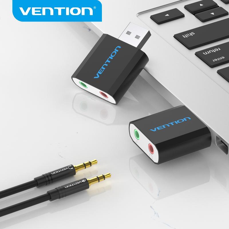 Vecention USB Sound Card USB аудио интерфейс Наушники Адаптер SoundCard для MIC динамика ноутбук PS4 компьютера внешняя звуковая карта