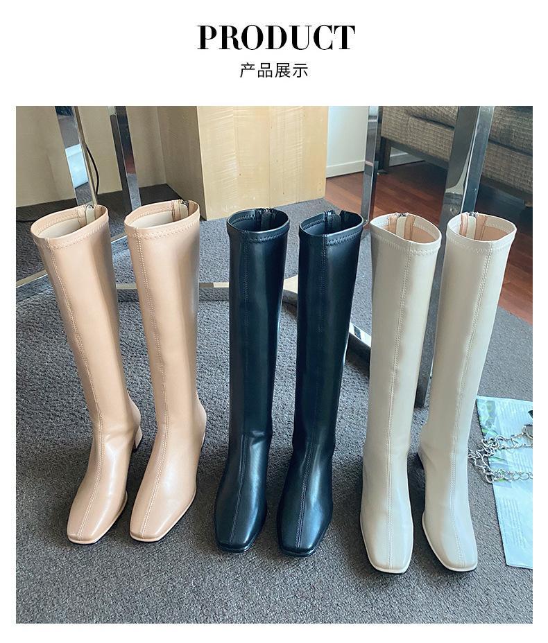 2020 зима над коленами женские ботинки натягивают высокий каблук на туфли заостренный носок женщина длинные сапоги размером 35-39