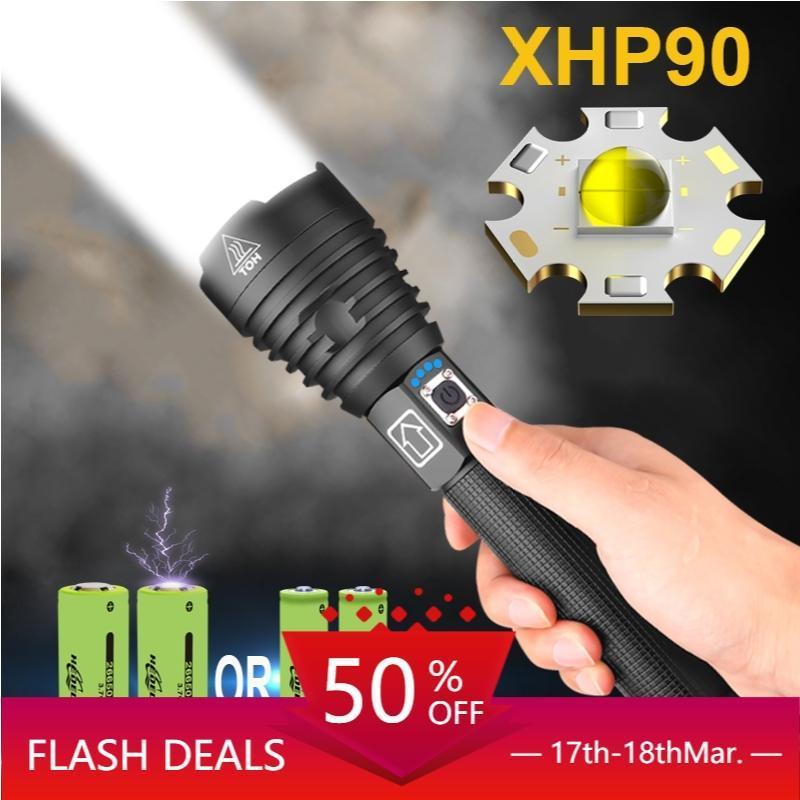 250000 лм xhp90.2 самый мощный светодиодный фонарик USB перезаряжаемые тактический проблесковый свет 18650 xhp70 xhp50 охотничьи фонари