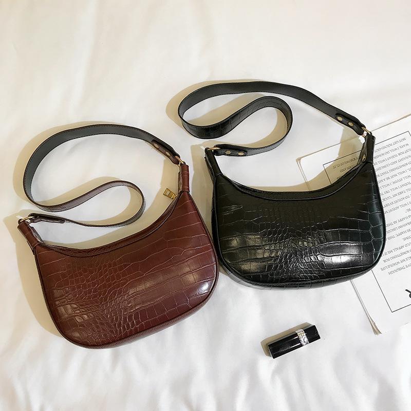 BDGBP für Handtaschen Crossbody Taschen Krokodil Hobo Lady Luxus Designer Frauen Frauen Sattel und Taschen Geldbörsen 2021 Muster Retro FFOJW