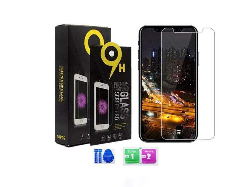 24H 배송 아이폰 12/12 프로 맥스 강화 유리 아이폰 X XS XR 8 화면 보호기 아이폰 7Plus 6S 필름 0.33mm 2.5D 9H 종이 패키지
