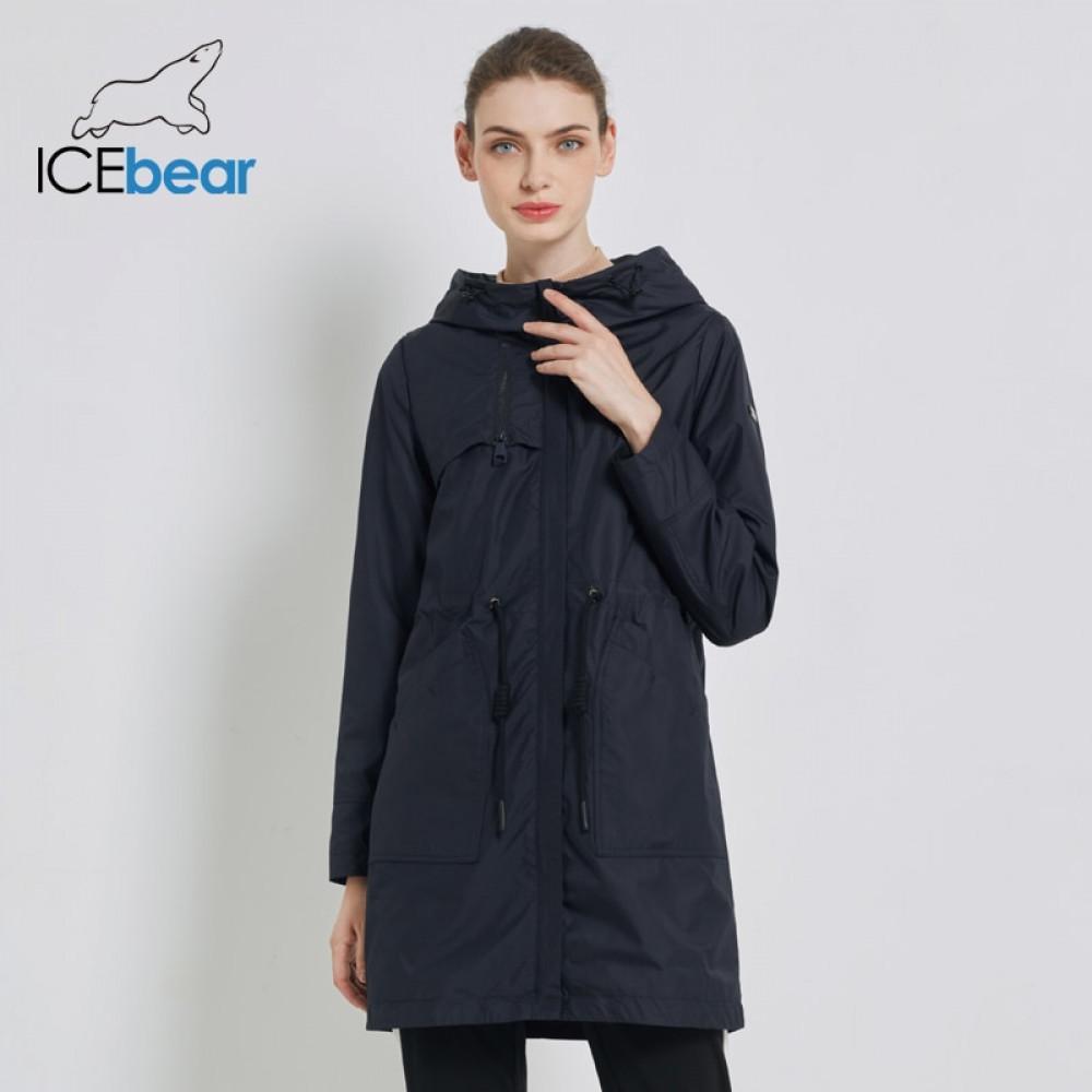 Icebear Outono novas mulheres blusão casaco casuais roupas femininas solta longa roupas femininas encapuzados GWF19023I 201015