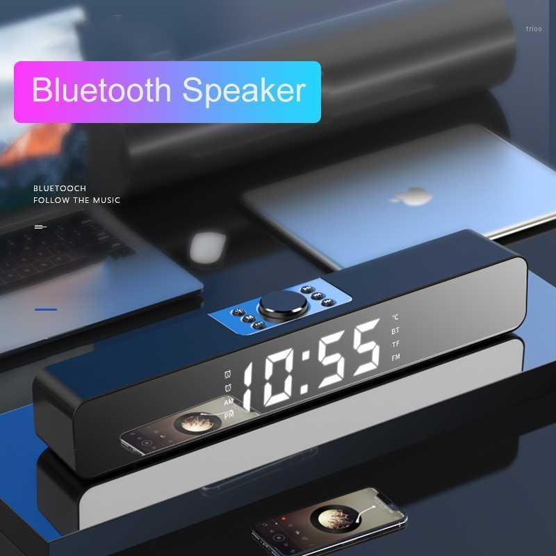LED TV Sound Bar Alarm Clock AUX USB Wired Wireless Bluetooth Speaker Home Theater Surround SoundBar for PC TV Computer Speaker1