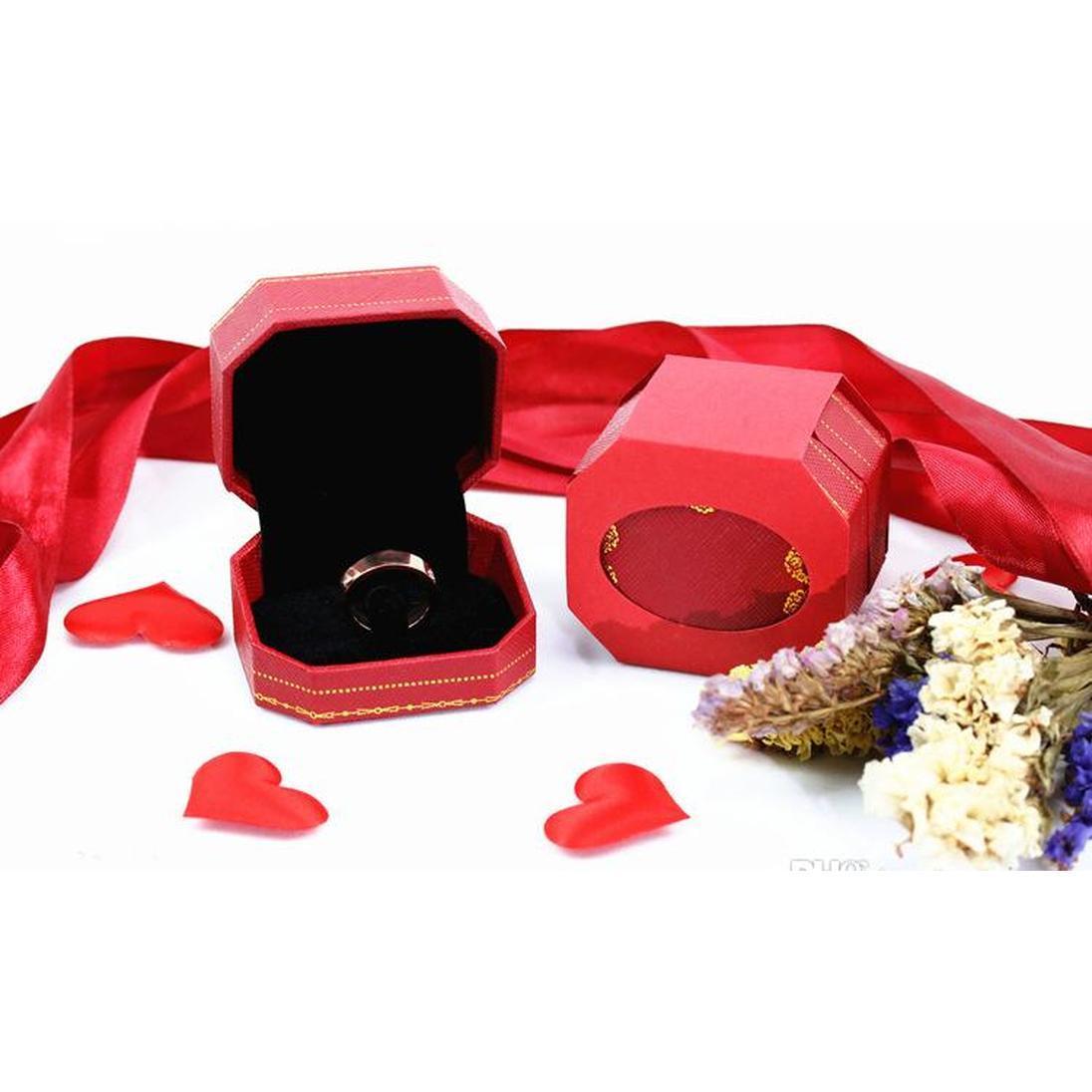 Anéis de amor de aço inoxidável de titânio para mulheres homens jóias casais cúbicos zircônia anéis de casamento com sqccbq rainha66
