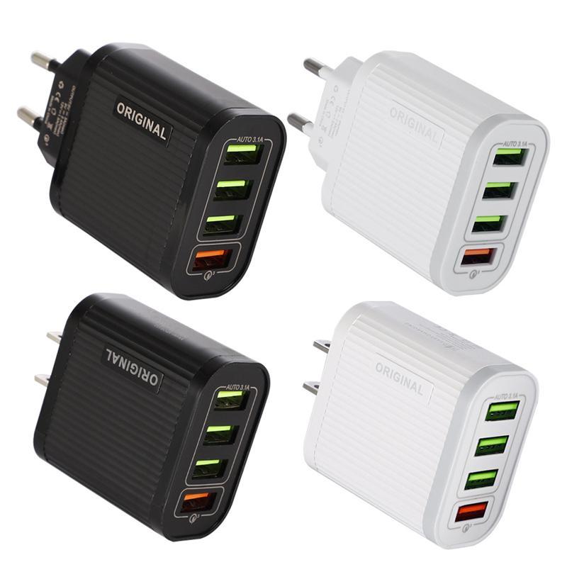 4USB는 고속 충전 충전기 QC 3.0 휴대 전화 충전기 5V3A 다기능는 고속 충전 태블릿 여행은 머리를 충전