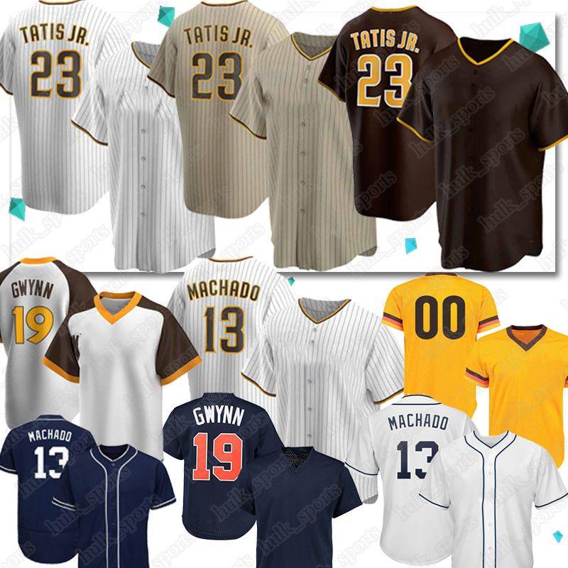 23 Fernando Tatis Jr.Baseball-Trikots 13 Manny Machado 19 Tony Gwynn Retro Custom 2020 New Saison Jersey