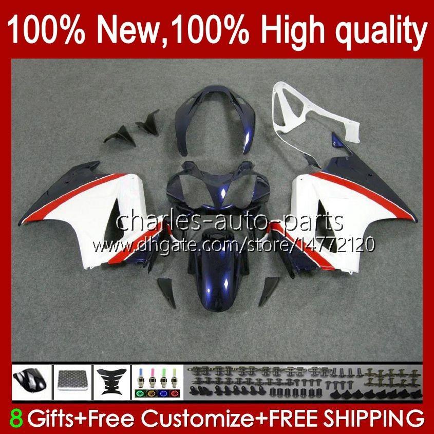 Körper für Honda Interceptor VFR800RR 2002 2008 2009 2010 2011 2012 100HC.75 VFR 800 RR VFR800 RR 02 03 04 05 06 07 Verkleidung Kit Blauweiß