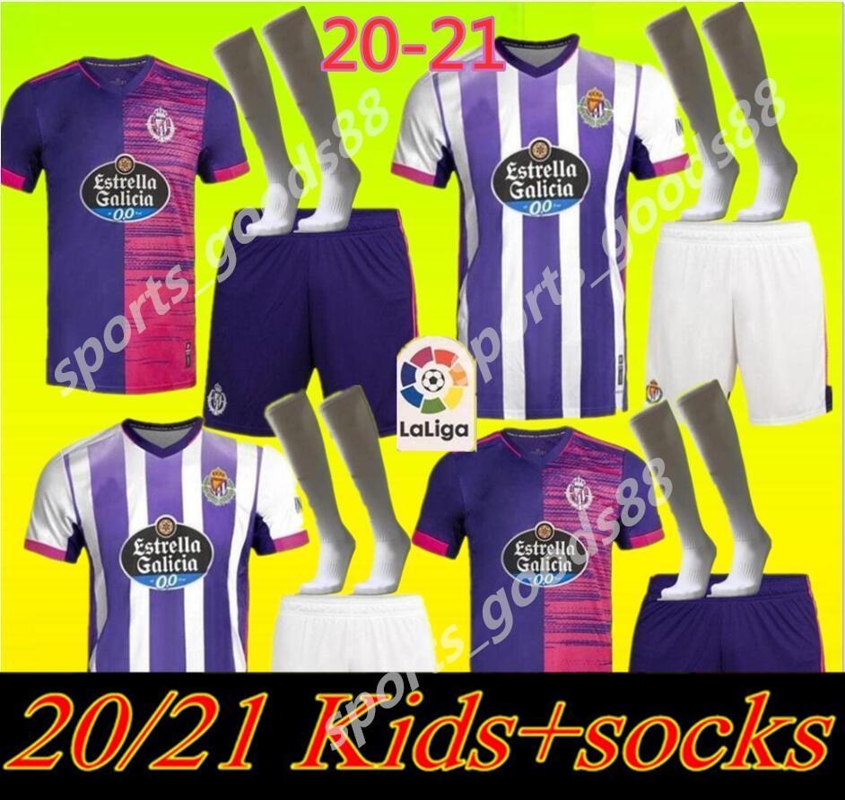 20 nouveaux 21 Real jersey de football Valladolid 2020 2021 Óscar Plano FEDE S. R. Alcaraz ss Guardiola Sergi chemisettes de Fútbol enfants Football