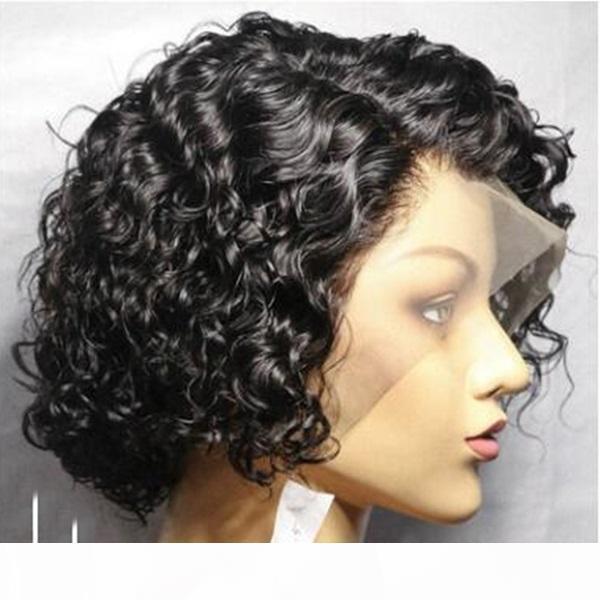 Curedo Curls Bob Lace Front Front WIGU 150 Dainity Pixie Cut WIGO короткий Curlg человеческие волосы WIGK REMY бразильский натуральный вьющийся близочный