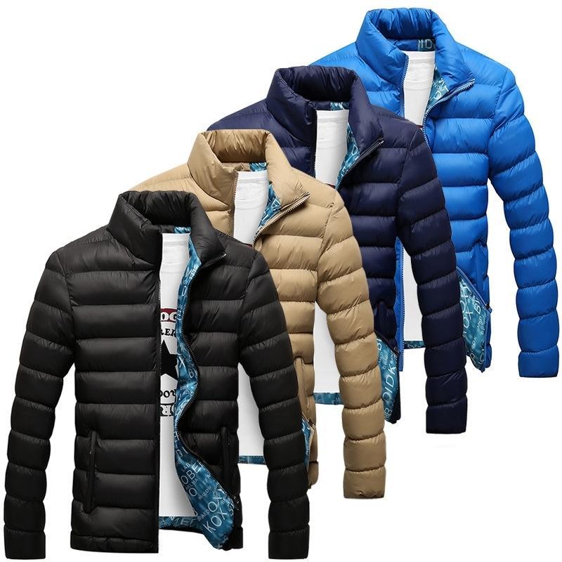 سترة الشتاء الرجال جديد القطن مبطن سميكة جاكيتات سترة يتأهل طويل الأكمام مبطن ملابس خارجية الملابس المعاطف الدافئة