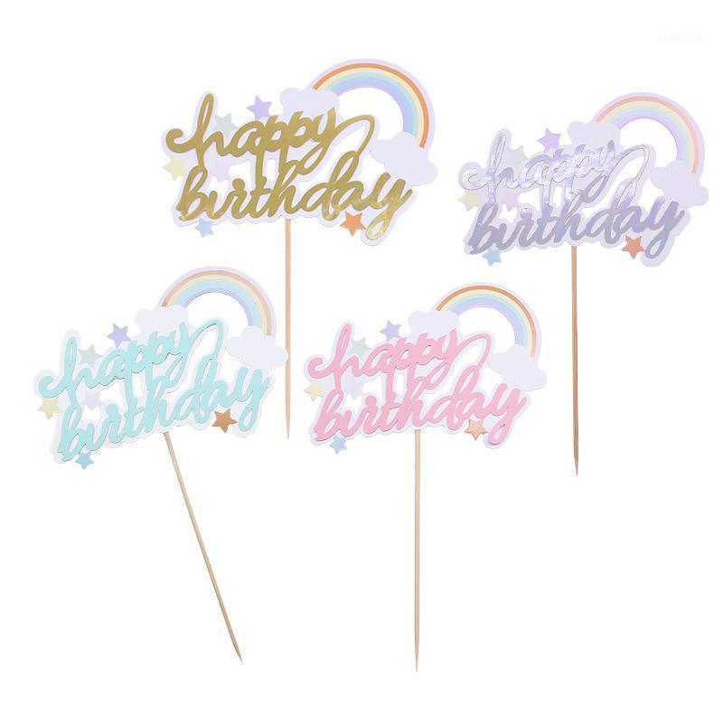 Другие праздничные партии поставки 1/3 / 5шт с днем рождения торт орнамент милые радуги кекс топперы детские детские душевые торты топ украшения