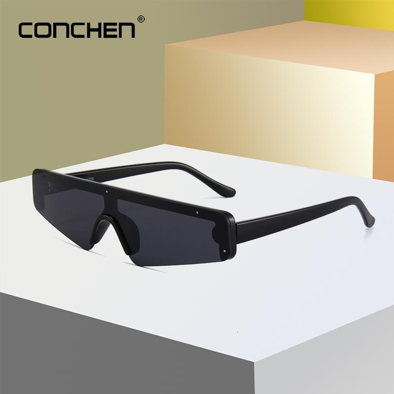 Une lunettes de soleil sport semi-righphite nouvelle pièce UV400 mode de luxe décoration de luxe Style de style de style conduite Goggle Hommes Conchen Faugm