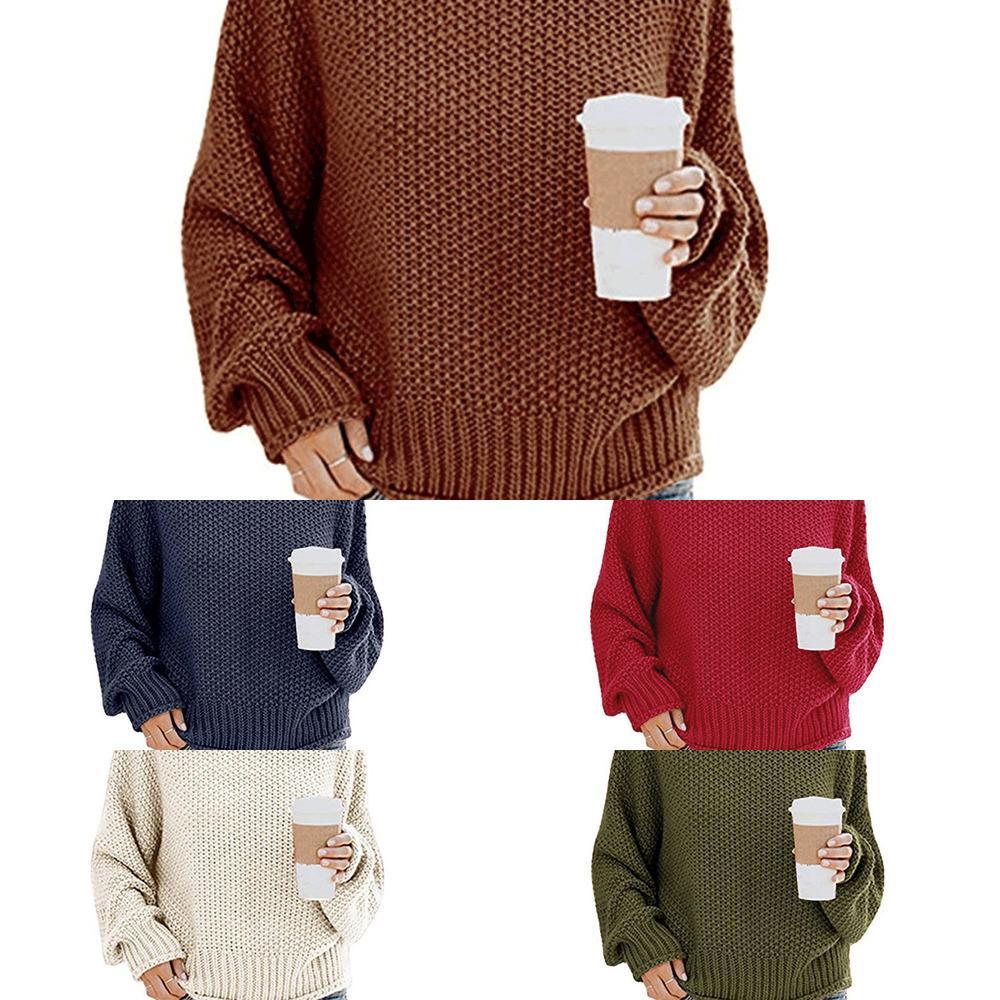 Suéter de hechos de tortuga de punto Suéter de mujer Larga Larga de otoño Suéteres femeninos 2020 Winter Casual Solid Ladies Pullover W1217