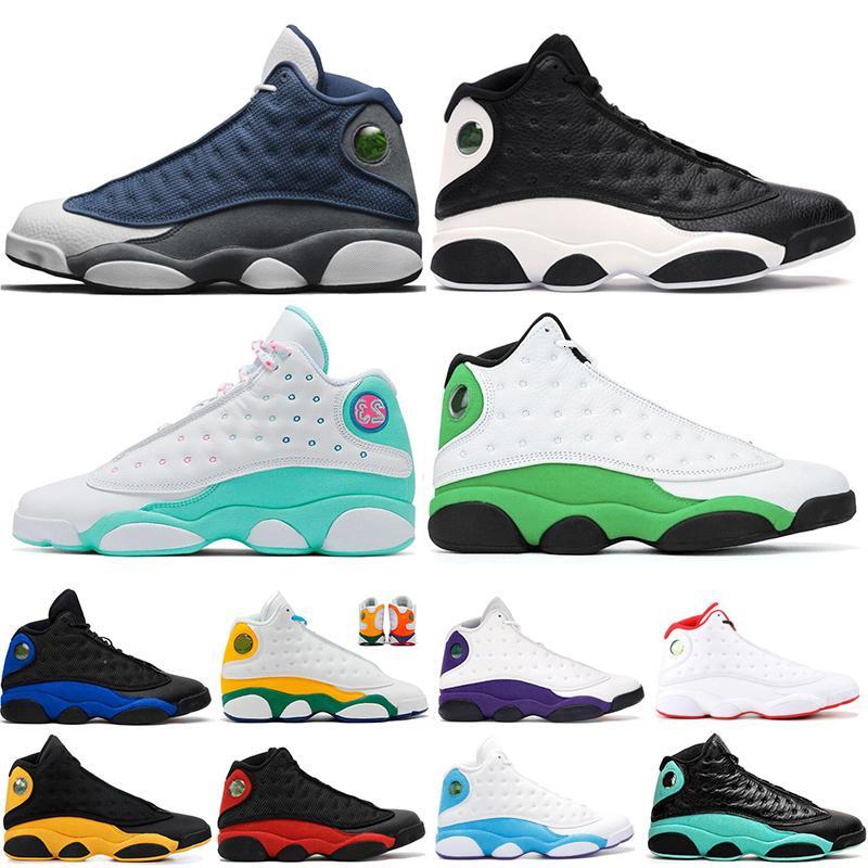 Basketbol ayakkabı Mens Womens 13 13s Yansıtıcı Hyper-Kraliyet Aurora Yeşil Flint Şanslı Yeşil Oyun Erkekler Ayakkabı Sneakers Eğitmenler 5.5-13