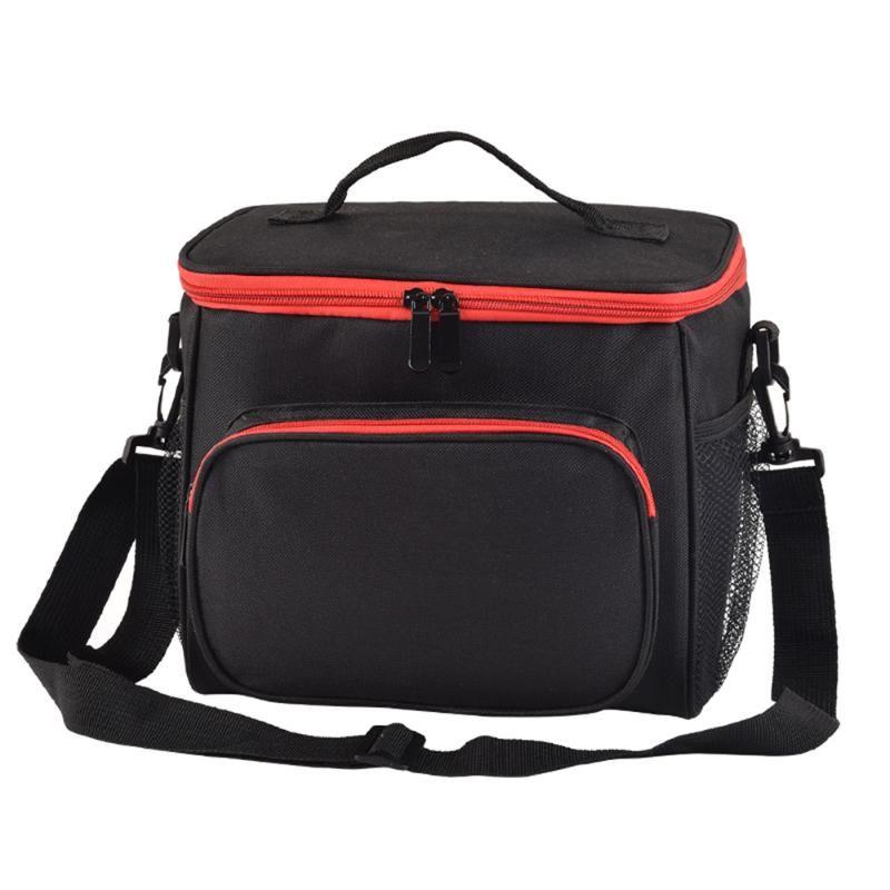 Sac isolé Épondérateur réutilisable à l'épaule réutilisable avec sac à bracelet de pique-nique réglable boîte de pique-nique Beach Bureau déjeuner durable PQRLW