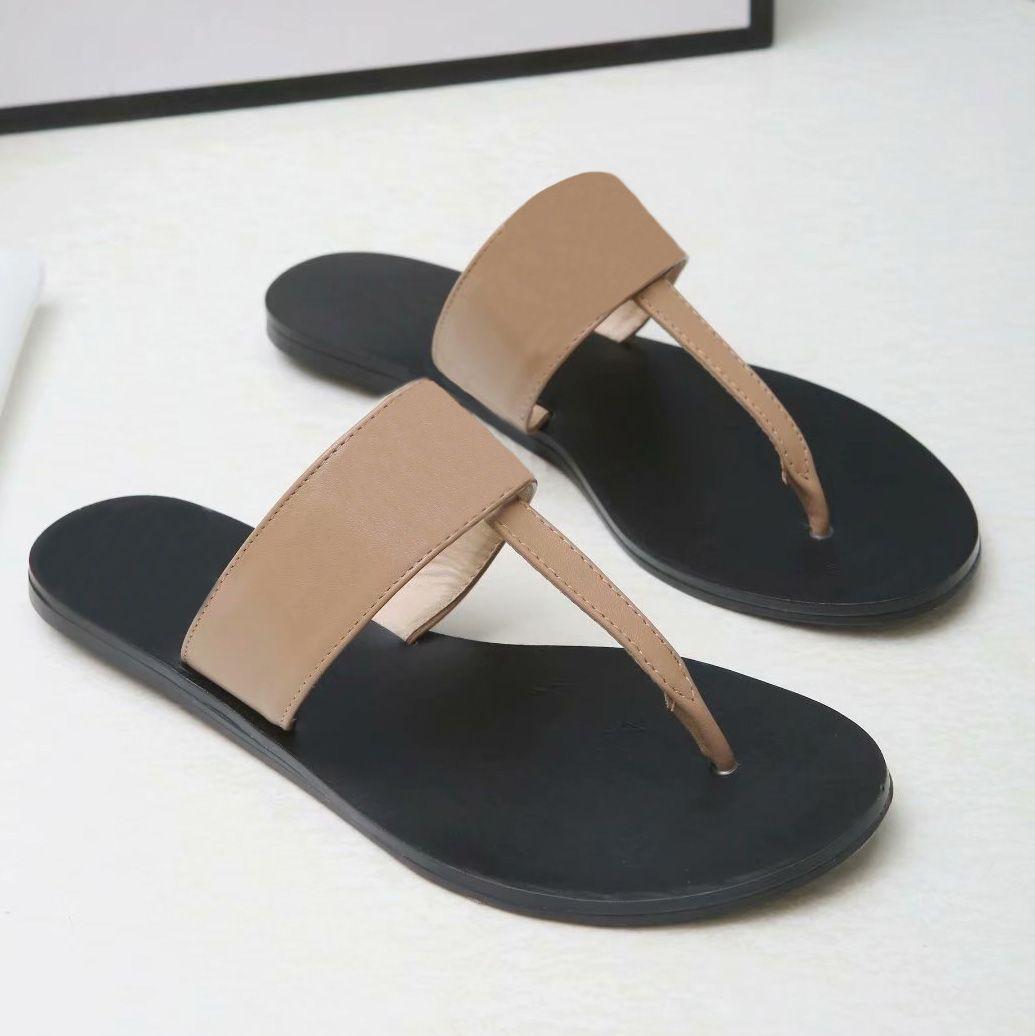 Высочайшее качество мужчин пляжные тапочки летние мода женщины флип флопы кожаные леди тапочки металлические женские туфли плоские дамы тапочки большой размер 35-45