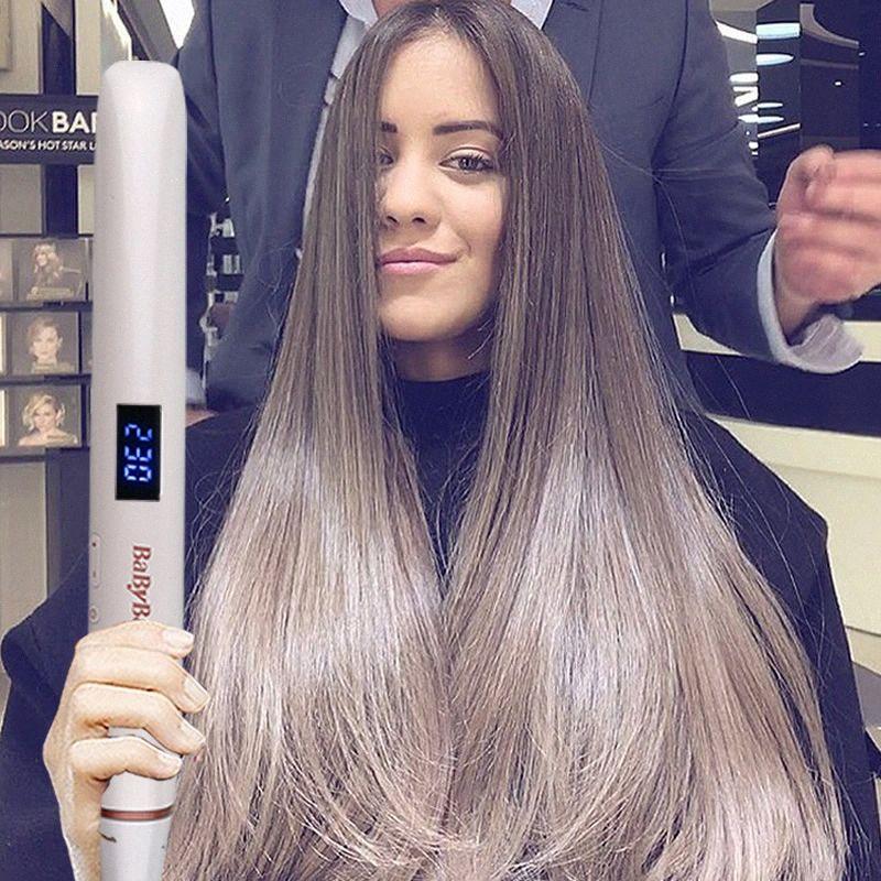 Professional Hair Straightener Curler Flat Iron Negative Ion Wand Straighting Ionic Curling Iron Corrugation Crimper qtBT#