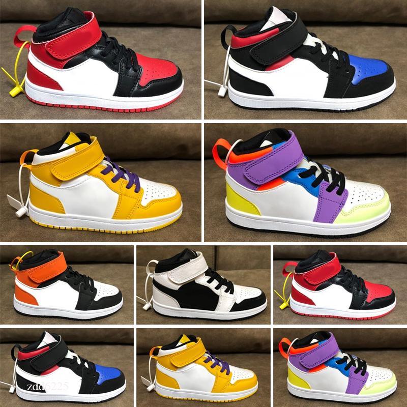 Nuovi bambini Scarpe 1s Top Obsidian Unc senza paura senza paura di prima classe Phantom Turbo Rosso 1 tabellone Sneakers Sneakers Allenatore Uomo Donne