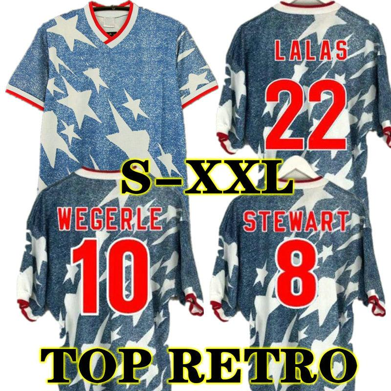 Lalas 1994 Wegerle weg Retro Soccer Jerseys Classic The Ramos Balboa Vereinigte Staaten USA 94 amerikanisch Vintage Football Hemden