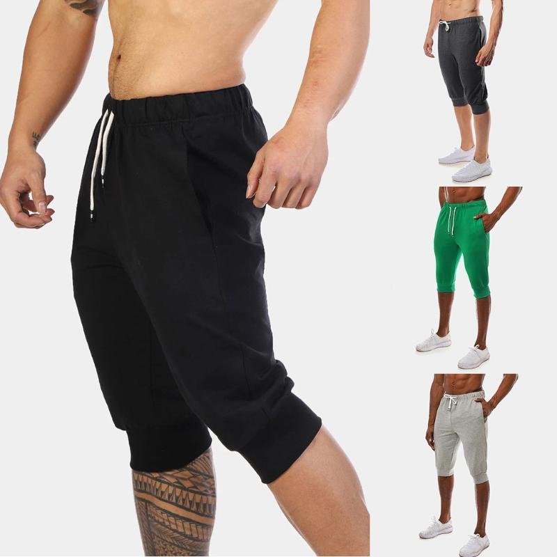Мужские шорты хлопчатобумажные карманы новый стиль эластичные талии многокарманские комбинезоны шорты спортивные спортивные тренировочные брюки супруги # G31