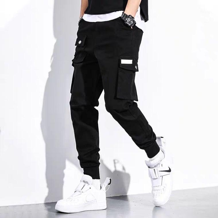 Multi Multi Multi Cargo Harem Pantalones Hip Hop Casual Male Pasos Pantalones Joggers Pantalones Moda Harajuku Hipster Streetwear1