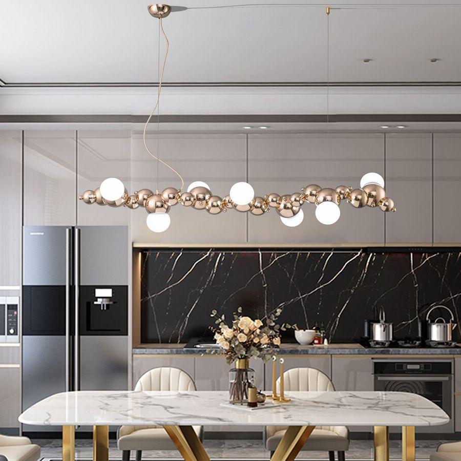 Creativa Long Bar Araña Oruga en forma de colgantes de la lámpara de techo comedor Habitación Cocina cuelga luces Post Modern Lighting