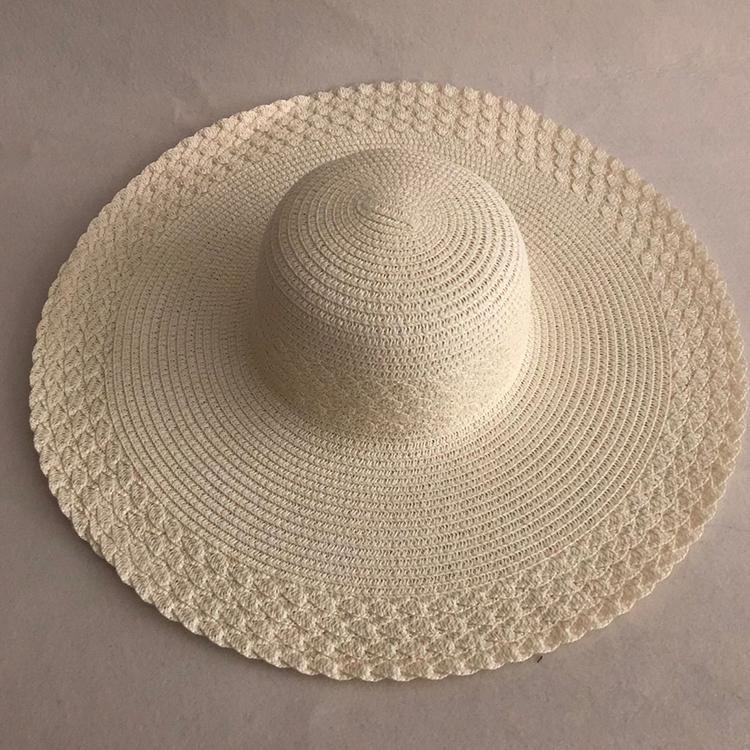 mulheres palha LVTZJ verão grande ampla proteção brim praia sol dobrável bloco UV panamá chapeu chapéu do osso feminino 201015