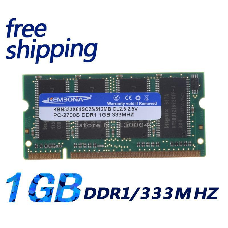 KEMBONA DDR1 1GB PC2700 For All Motherboard DDR333 1G 200PIN SODIMM Laptop MEMORY SO-DIMM RAM DDR Laptop Notebook Free Shipping