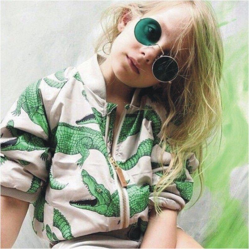 Çocuklar Kızlar ceket 2019 Yeni Çocuk Ceket Timsah Baskı Çocuklar 0930 ceketler Sonbahar Kış Bebek ceket Boys Giyim Kabanlar ısınmak