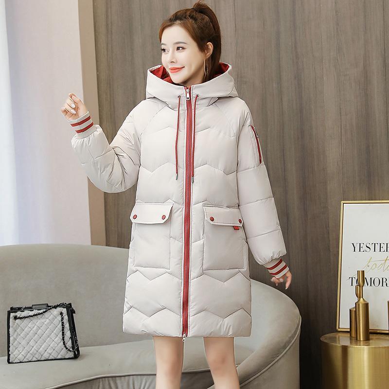 Manteau à capuche longue à capuche à capuche douce hiver jaquette femme 2021 nouveau occasionnel élégant élégant manche parka femme bureau femme femme