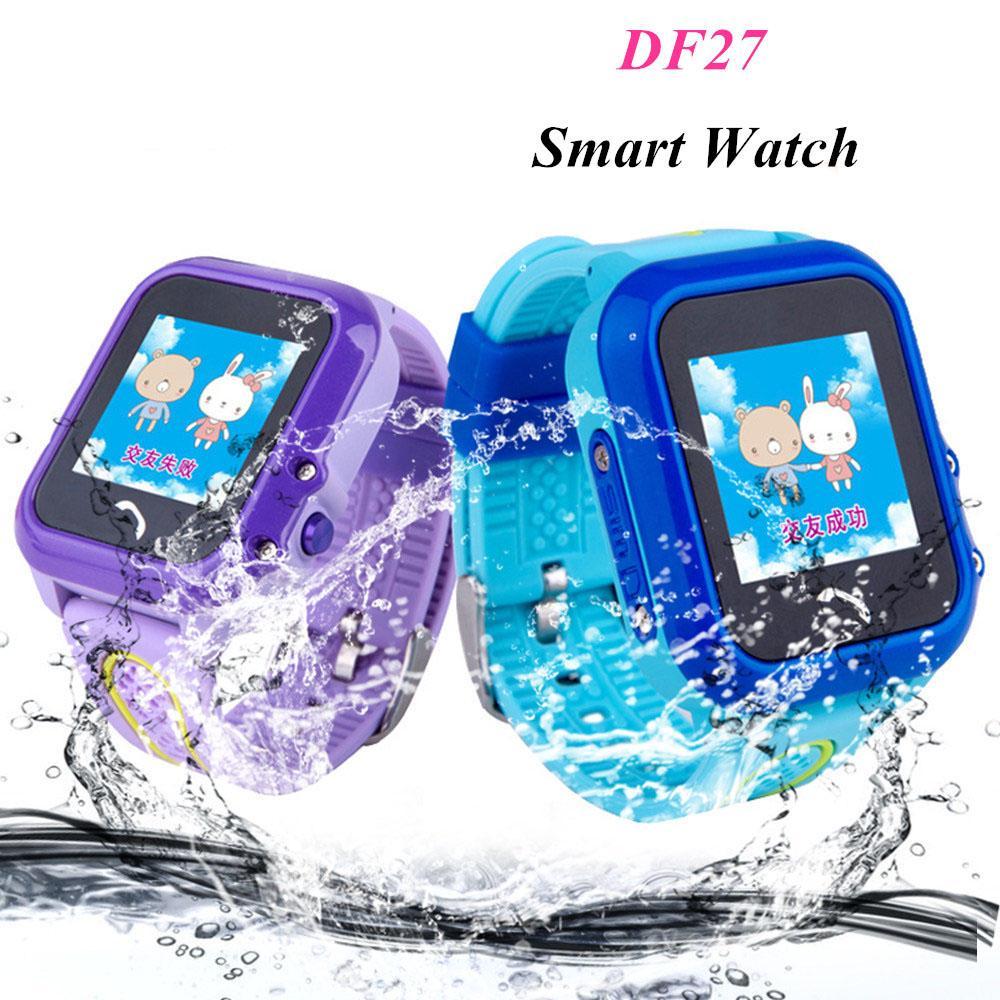 DF27 IP67 Waterproof Children baby GPS Swim phone smart watch SOS Call Location Device Tracker Kids Safe Anti-Lost Monitor